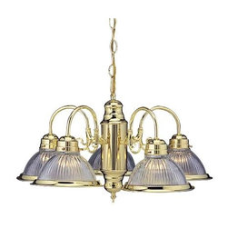 NATIONAL BRAND ALTERNATIVE - Chandelier 5-Light Polished Brass - Features: