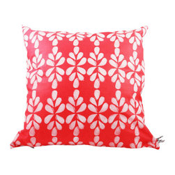 Moko & Co. - Pillow Cover  - Teardrop in Coral, 16x16 - The Process: