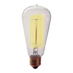 Ballard Designs - Set of 6 Vintage 1910 Light Bulbs - Fits standard incandescent light bulb sockets. Clear glass bulb emits warm glow. Squirrel cage filament design. Antique replicas are fashioned after the classic Edison style bulb used at the turn of the 19th century. These authentic light bulbs add the finishing touch to antique style fixtures. Each bulb is hand blown.Vintage 1910 Light Bulb features: . . .