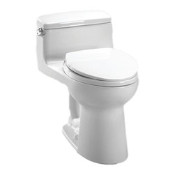 Toto - Toto MS864114#01 Cotton White Supreme Toilet, 1.6 GPF - Toto MS864114#01 cotton white Supreme Elongated One-Piece Toilet. Toto is the world's largest plumbing products manufacturer, they have been designing and innovating plumbing fixtures, accessories, showers, and for over 90 years. Each Collection and Product that Toto makes is unique in appearance and performance. This Toto MS864114#01 cotton white Supreme Elongated One-Piece Toilet combines a contemporary low-profile look with innovations in water conservation, including a power gravity flushing system and a SoftClose seat.