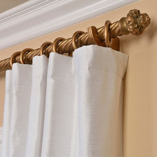 Signature Lily White 108-inch Textured Silk Curtain Panel | Overstock.com