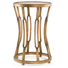 Nightstands And Bedside Tables 'Hourglass' Metal End Table