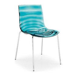 Acrylic Blue Ripple Water Chair - Acrylic Blue Ripple Water Chair