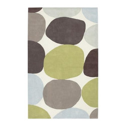 Surya - Cosmopolitan COS8809 Rug in White w Multi-Color Freeform Circles (8 ft. x 11 ft. - Size: 8 ft. x 11 ft.. Bring a fun, playful spirit into your home's decor with this hand tufted rug, constructed of durable poly acrylic in a contemporary color palette uniting white with multiple shades of green, gray, charcoal and blue. Available in your choice of size options, the rug will be a bright, modern way to add color and depth to your interior design. Hand tufted. Made from 100% Poly Acrylic