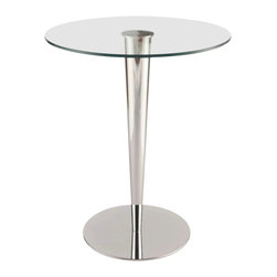Chintaly Imports - Grand Clear Glass Counter Pub Table - Grand Clear Glass Counter Pub Table