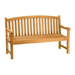 "Anderson Teak - Chelsea 3-Seater Bench - This beautiful ""curve back styling"" has been designed for house or backyard with a lot of curve pattern, the bench will never go out of style, but quietly blends with any decor. We have made subtle but careful design changes to ensure excellent back support. Place a single bench under your trees; use a group of benches and chairs for entertaining. Quality built for generations. Cushion is optional and is can be made by order."