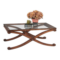 Bassett Mirror - Wellington Rectangle Cocktail Table - Traditional Style in Dark Fruitwood Finish on Asian Hardwood. Measures: 50 in. W x 30 in. D x 19 in. H. Part of the Wellington Collection.