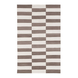 Platinum Buche Cotton Carpet - I love that the colors and texture of this rug are very warm, but the pattern is very modern — the best of both worlds.