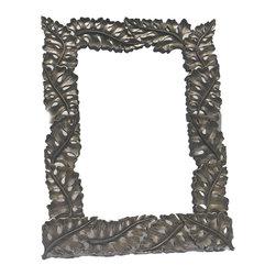 BradburyHD - Hand Carved Wood Frame with Mirror - Hand carved wood frame with mirror.