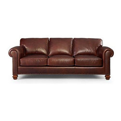 Lauren Ralph Lauren Leather Sofa, Stanmore - This leather sofa with a classic silhouette features sophisticated finishing touches.