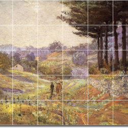 Picture-Tiles, LLC - Hills Of Vernon Tile Mural By Theodore Steele - * MURAL SIZE: 60x72 inch tile mural using (30) 12x12 ceramic tiles-satin finish.