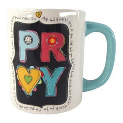 """Westland - 4.25 Inch """"Pray"""" Ceramic Coffee Mug with Quotes, 15 oz. - White - This gorgeous 4.25 Inch """"Pray"""" Ceramic Coffee Mug with Quotes, 15 oz. - White has the finest details and highest quality you will find anywhere! 4.25 Inch """"Pray"""" Ceramic Coffee Mug with Quotes, 15 oz. - White is truly remarkable."""