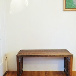 Rustic Wood Bench - Rustic Wooden Bench