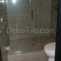 Master Bathroom - 2 x 2 Seagrass Limestone Honed Mosaic Tile