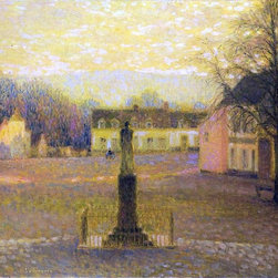 """Art MegaMart - Henri Le Sidaner A Small Villa in Afternoon - 21"""" x 28"""" Premium Canvas Print - 21"""" x 28"""" Henri Le Sidaner A Small Villa in Afternoon premium canvas print reproduced to meet museum quality standards. Our museum quality canvas prints are produced using high-precision print technology for a more accurate reproduction printed on high quality canvas with fade-resistant, archival inks. Our progressive business model allows us to offer works of art to you at the best wholesale pricing, significantly less than art gallery prices, affordable to all. We present a comprehensive collection of exceptional canvas art reproductions by Henri Le Sidaner."""