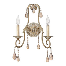 Hinkley Lighting - Renaissance Two Light Double Arm Wall SconceCarlton Collection - A silver leaf finish highlights the Carlton collections double arm wall sconce.