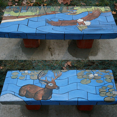 Wilderness Tile Benches -