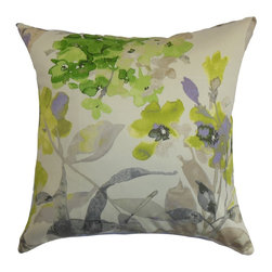 "The Pillow Collection - Naryany Floral Pillow Green Gray 18"" x 18"" - Refresh the look of your interiors by decorating this throw pillow, which comes with a bold floral pattern. This accent pillow provides a stunning style to your space with its beautiful color palette. Shades of green and gray adorns this white-hued decor pillow. Coordinate solids and patterns for a perfect blend of lovely elements. Made from 100% high-quality cotton fabric. Hidden zipper closure for easy cover removal.  Knife edge finish on all four sides.  Reversible pillow with the same fabric on the back side.  Spot cleaning suggested."