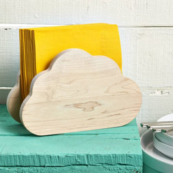 Cloud Napkin Holder - Stop your paper napkins from blowing all over the place! This whimsical wood cloud napkin holder will do the trick.