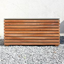 Gartenboxen gartentruhen modern gartenbox und for Auflagenbox meranti