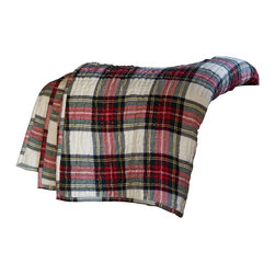 Taylor Linens - Aberdeen Throw Blanket - Wrap yourself in cozy comfort with this ruggedly handsome throw. The classic plaid design is quilted for extra warmth and visual richness, making it a splendid addition to the cottage or cabin — or wherever you fancy a comfy snuggle.