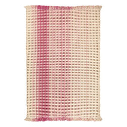 Surya - Hannah Waffle Rug in Hot Pink and Lime (2' x 3') - Fresh and trendy accessory is presented in ultra fashionable palette of this season. This very soft rug with a grooved surface is weaved by hand from the most delicate wool. It is very natural and stylish decoration for your modern home.    Features: