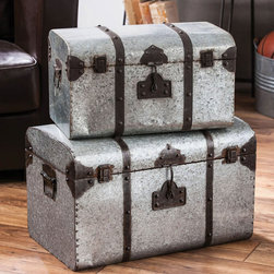 Globe Trotter Storage Trunks - If you've never made your way around the world yet, maybe these storage trunks will inspire you to expand your bucket list. The Globe Trotter Storage Trunks are sophisticated, worldly, and charming.