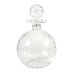 Vivian Borosilicate Glass Decanter with Stopper - Exquisite design and beautiful round shape define the Vivian Borosilicate glass decanter with a globe shaped stopper.