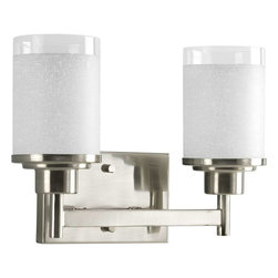 Progress Lighting - Progress Lighting P2977-09 Alexa 2 Light Bathroom Light In Brushed Nickel - Progress Lighting P2977-09 Alexa 2 Light Bathroom Light In Brushed Nickel