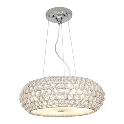 Access Lighting - Kristal 51000 - Crystal Pendant Lamp | Access - Access Lighting Kristal 51000-CH/CRY Crystal Chandelier features decorative shade and chrome hardware finish.10ft of cable & cord - included. Manufacturer: Access LightingSize: 15 in. diameter x 6 in. length x 16 in. to 125 in. heightLight Source: 3 x 60W B-10 (E-12 Candelabra Base) - not includedLocation:�_DryCertifications: CETL