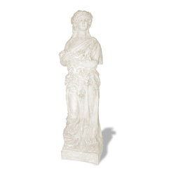 Amedeo Design, LLC - USA - Four Seasons Spring Statue - Large - Our Four Season Statues are truly beautiful and have tremendous versatility inside or out. Being made from ResinStone, it is also easily moved to different locations, yet by looking at it you would think it is made from stone. Though they look like ancient European & Mediterranean designs in carved stone, our products are made of lightweight weatherproof ResinStone. So authentic, you actually have to lift them to convince yourself they're not stone at all! Made in USA.