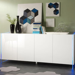 Modern Sideboard Lumina - Modern Sideboard Lumina. Made in Italy by LC Mobili. Futures modern, handle-less doors design and stylish RGB lights to compliment the sleek look of the model.