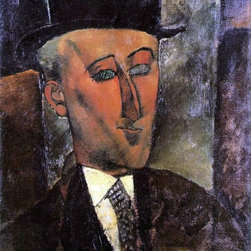 """Art MegaMart - Amedeo Modigliani Portrait of Max Jacob - 20"""" x 25"""" Premium Canvas Print - 20"""" x 25"""" Amedeo Modigliani Portrait of Max Jacob premium canvas print reproduced to meet museum quality standards. Our museum quality canvas prints are produced using high-precision print technology for a more accurate reproduction printed on high quality canvas with fade-resistant, archival inks. Our progressive business model allows us to offer works of art to you at the best wholesale pricing, significantly less than art gallery prices, affordable to all. We present a comprehensive collection of exceptional canvas art reproductions by Amedeo Modigliani."""
