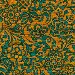 """Loloi Rugs - Loloi Rugs Aria Collection - Lime / Teal, 3'-0"""" x 3' Round - Expressive and relaxed, stylish and fun. The Aria Collection from India has it all. Pretty paisley patterns, flourishing flowers, dreamy damasks and magical medallion designs are printed onto 100% recycled cotton Chindi for scatter rugs that are flirty and fashionable. Dressed in a palette of bold, saturated colors that take you from cool blues and pinks to warm spice tones and modern tropical hues, too, Aria rugs come in select scatter sizes that will accent choice spaces with flair."""