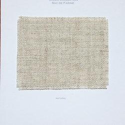 Digital Sample Book - Kearsley Couture Sac de Farine Belgian woven washable blend throw blanket color Natural