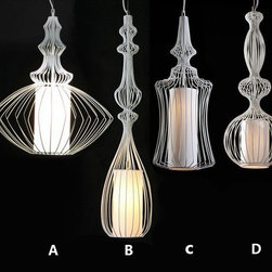 Antique IronLine  Pendant Lighting in Baking Finish -