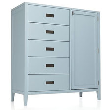 Arch Blue Chifforobe in Armoires | Crate and Barrel