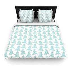 "Kess InHouse - Michelle Drew ""Herringbone Forest Teal"" Blue Fleece Duvet Cover (King, 104"" x 88 - You can curate your bedroom and turn your down comforter, UP! You're about to dream and WAKE in color with this uber stylish focal point of your bedroom with this duvet cover! Crafted at the click of your mouse, this duvet cover is not only personal and inspiring but super soft. Created out of microfiber material that is delectable, our duvets are ultra comfortable and beyond soft. Get up on the right side of the bed, or the left, this duvet cover will look good from every angle."
