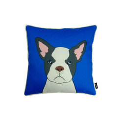 French Bulldog! 18X18 Pillow (Indoor/Outdoor) - 100% polyester cover and fill.  Suitable for use indoors or out.  Made in USA.  Spot Clean only