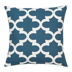 Look Here Jane, LLC - Fynn Cadet Blue Pillow Cover - PILLOW COVER
