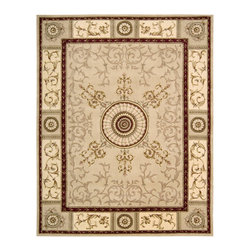 Nourison - NOUR-28707 Nourison Versailles Palace Area Rug Collection - Fit for royalty, as the name suggests! This collection features stunningly elegant designs inspired by 18th Century French carpets and handmade with intriguing articulation from the highest quality wool. Features a dense, luxurious pile and hand-carved for added dimension with delicate accents that are a pleasure to both look at and touch.