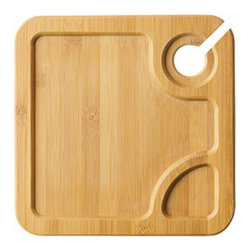Bambooware - 8 3/4 Inch Reusable Square Bamboo Steath Wine Plates 6 Ct - Made from 100 Percent natural aged bamboo sheath