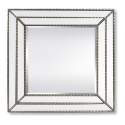Garber corp - Calista Mirror, Transitional Double Glass Frame With Silver Liners - This mirror is part of Garber collection. Garber specializes in home decor items with an elegant look and high quality materials that will complete any project. This mirror is double glass frame & silver liners, have an elegant look and could be a great addtion to your bedroom.