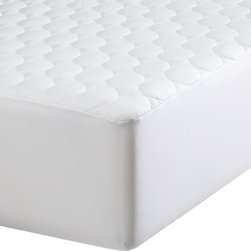 """Twin Mattress Pad - Upgrade to our exclusive mattress pad in 300-thread-count cotton with health-conscious Tencel® top cover, a natural inhibitor of mold and dust mites. 15"""" fitted polyester elastic skirt fits up to 17"""" mattresses. New extra-long twin size fits standard or oversized dorm mattresses. Mattresses also available."""