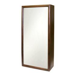 Copper Medicine Cabinet with Mirror - Antique Copper - This sleek copper medicine cabinet is an ...