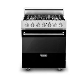 """Viking 3 Series 30"""" Dual Fuel Range, Black Natural Gas 