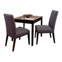 Great Deal Furniture - Stanton Dark Blue Dining Chair (set of 2) - Elegant contemporary style, sturdy hardwood construction, and fully cushioned seat and back make Stanton Dining Chairs beautiful and practical. Stanton Dining Chairs are comfortable, easy to assemble and we have no doubt that they will look great in your dining room, or even as a side chairs in a living room. Stanton dining chairs are a great addition to any home.