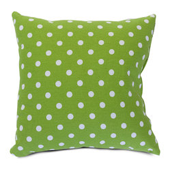Indoor Lime Small Polka Dot Large Pillow