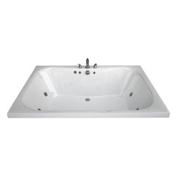 Spa World Corp - Atlantis Tubs 4860NAL Neptune 48x60x23 Rectangular Air Jetted Bathtub - The Neptune encompasses a cutting edge design, it's smooth contours embrace you tight while having an ample bathing area. The Neptune can effortlessly accommodate two, while still offering all the luxuries of a peaceful spa experience. Lay back, relax and enjoy the massaging jets while the contours of the bathing interior caress your body.