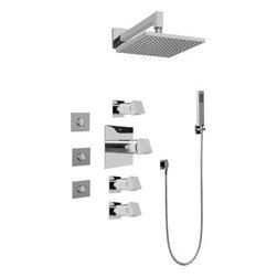 Graff - Graff - Contemporary Square Thermostatic Set  - GC1.122A-C10S-PC - Includes Rough & Trim